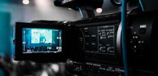 Camera recording actress